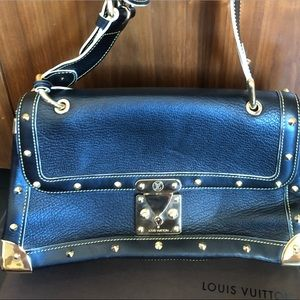 Louis Vuitton Black Suhali Leather bag